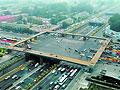 """实拍北京最大""""口字形""""天桥缓解交通拥堵"""