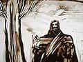 一幅值得深思的沙画《圣诞前的耶稣》