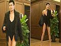 长腿美男身穿吊带背心演绎性感热舞