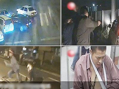 广东佛山警方抓捕飞车党惊险现场