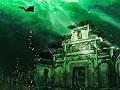 记者潜水探秘千岛湖水下古城拍下古牌坊