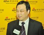 新浪河南总经理冯林辉接受媒体采访