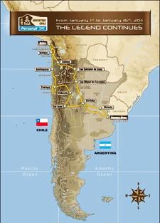 2011年达喀尔拉力赛赛程路线图