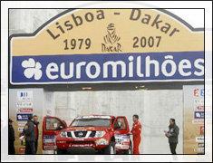 2007年卢宁军在第29届DAKAR发车仪式上