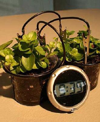 创意时尚家品:由土壤供电的时钟