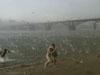 俄罗斯海滩降冰雹