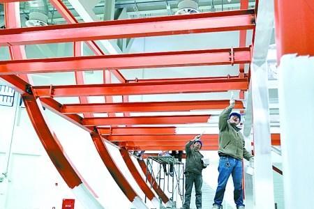 北京馆已完成钢结构施工