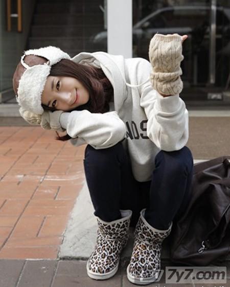 身材娇小的可爱女生冬季搭配经