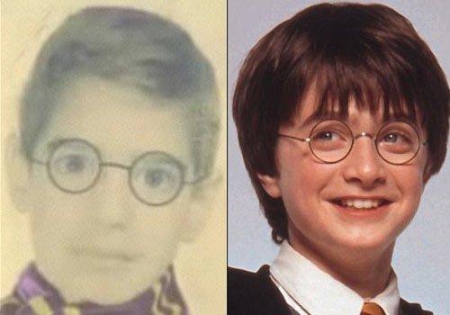 科波菲尔与哈利波特童年照片对比