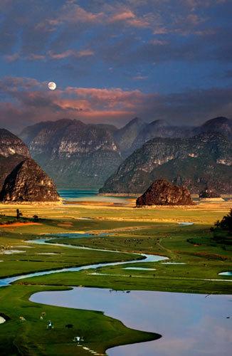 聊天养眼山水风景图片
