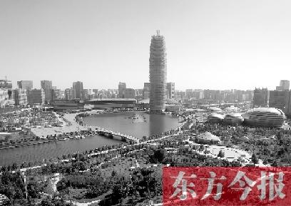 美丽的郑东新区,为中原经济区建设添上了亮丽的一笔 东方今报记者 沈翔 摄
