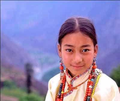 女王谷的藏族女孩