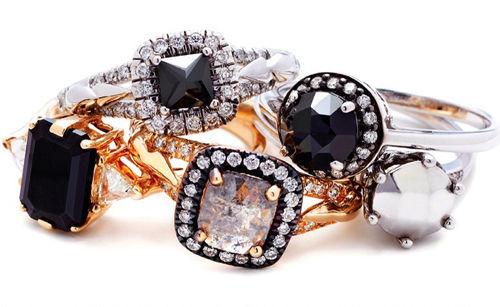 大颗粒彩色宝石戒指