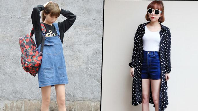 穿出甜美街头风 齐刘海MM时尚装扮示范
