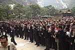 监控首曝光华山景区游客滞留画面