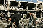 以军袭击加沙银行 哈马斯发射火箭炮还击