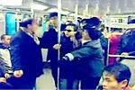 实拍上海墨镜女地铁随地扔橘皮遭乘客声讨