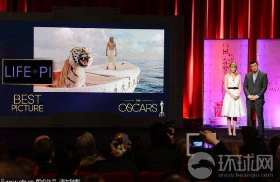 李安《少年派》奥斯卡入围11项奖