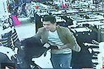 监控拍下男子为收保护费非礼多名女店员
