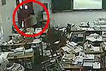 监拍雅安地震瞬间老师为护学生最后离开