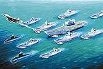 辽宁舰首组航母战斗群开赴南海训练