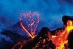 延时拍摄火山喷发