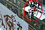 实拍选手坐轮椅挑战矮寨大桥低空跳伞
