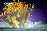 美宇航局公布流星撞击月球爆炸闪光画面