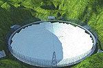 实拍世界最大球面射电望远镜贵州开工搭架