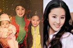 刘亦菲清新童年照曝光 美丽小姨抢镜